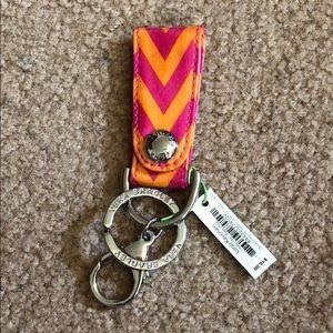 Vera Bradley Loop Keychain in Ziggy Zags